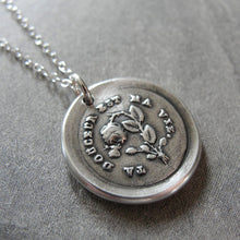 Load image into Gallery viewer, Wax Seal Necklace Your Sweetness Is My Life antique wax seal charm jewelry - inspirational love motto - RQP Studio