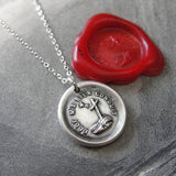 Faith Lights The Way Wax Seal Necklace - antique wax seal charm jewelry with Christian Cross and Star