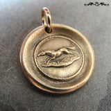 Horse Wax Seal cCharm - antique wax seal jewelry in bronze Equestrian galloping pony