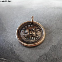 Load image into Gallery viewer, Agnus Dei Wax Seal Charm - Lamb of God antique wax seal jewelry - RQP Studio