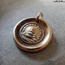 Load image into Gallery viewer, Wax Seal Charm I Sing For You - antique wax seal jewelry pendant with song bird in tree - RQP Studio