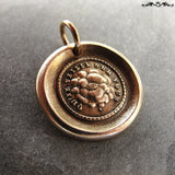 All Seeing Eye wax seal charm May It Watch Over You - antique wax seal jewelry in bronze
