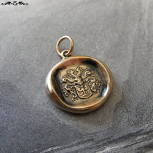 Load image into Gallery viewer, Wax Seal Charm Eagle - antique Victorian wax seal jewelry pendant Protection Bravery armorial crest - RQP Studio