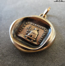 Load image into Gallery viewer, Beehive Wax Seal Charm - Protect Secrets antique wax seal jewelry pendant with bees and hive in bronze - RQP Studio