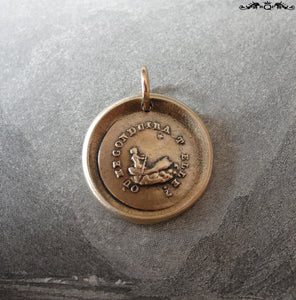 Wax Seal Charm Guiding Star - antique wax seal jewelry pendant French motto North Star - RQP Studio