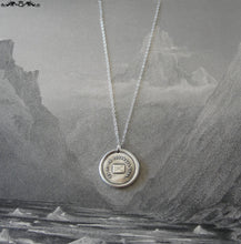 Load image into Gallery viewer, Go Where I Wish To Be - Wax Seal Necklace with message letter - antique wax seal charm jewelry - RQP Studio