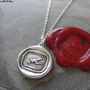 Love Message Wax Seal Necklace - Dove antique wax seal jewelry charm motto Tell Her I Love Her - RQP Studio