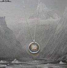 Load image into Gallery viewer, Coffin Wax Seal Necklace - Mourning Death antique wax seal charm jewelry coping with grief and loss - RQP Studio