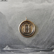 Load image into Gallery viewer, Wax Seal Charm Initial H - wax seal jewelry pendant alphabet charms Letter H - RQP Studio