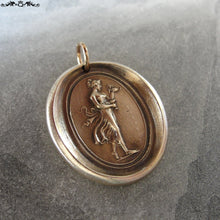 Load image into Gallery viewer, Hebe wax seal charm - Goddess of Youth - antique wax seal jewelry after Antonio Canova - RQP Studio