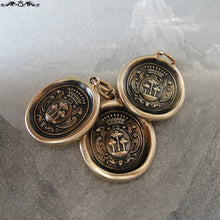 Load image into Gallery viewer, Wax Seal Charm Tree of Life - antique wax seal jewelry pendant- heraldic crest - RQP Studio