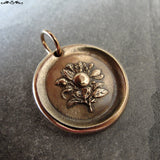 Apple Blossom Wax Seal Charm - antique wax seal jewelry Language of Flowers Temptation Preference