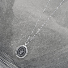 Load image into Gallery viewer, Intellect And Character - Silver Wax Seal Necklace - Level Up