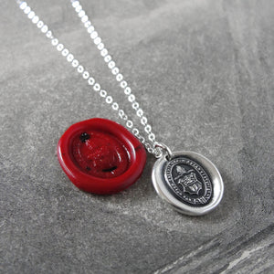Intellect And Character - Silver Wax Seal Necklace - Level Up