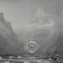 Load image into Gallery viewer, I Remain Unvanquished - Silver Lion Wax Seal Necklace - Unbeaten - RQP Studio