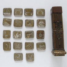Load image into Gallery viewer, Antique French Multi Wax Seal Set with 18 double sided seals - RQP Studio