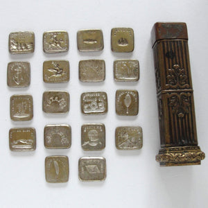 Antique French Multi Wax Seal Set with 18 double sided seals - RQP Studio