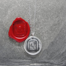 Load image into Gallery viewer, Never Ungrateful - Silver Sunflower Wax Seal Necklace - RQP Studio
