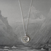 Load image into Gallery viewer, Silver Wax Seal Necklace Sun Face - Nothing Without Thee - RQP Studio