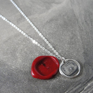 Silver Wax Seal Necklace - Nothing Without You - My Sunshine - RQP Studio