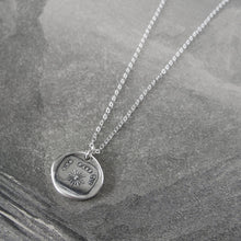 Load image into Gallery viewer, Silver Wax Seal Necklace - Nothing Without You - My Sunshine - RQP Studio