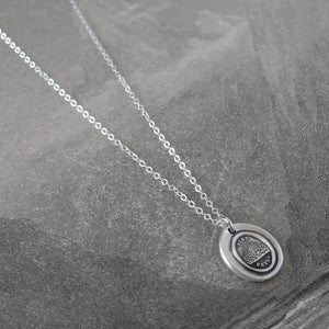 Further Beyond - Silver Sun Wax Seal Necklace - Surpass Your Limits