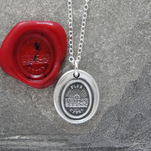 Load image into Gallery viewer, Further Beyond - Silver Sun Wax Seal Necklace - Surpass Your Limits