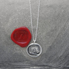 Load image into Gallery viewer, Lovable and Faithful - Silver Wax Seal Necklace with Poodle Dog - RQP Studio