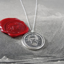 Load image into Gallery viewer, From Possibility To Actuality - Rampant Lion Silver Wax Seal Necklace