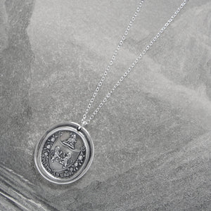 From Possibility To Actuality - Rampant Lion Silver Wax Seal Necklace