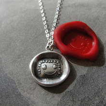 Load image into Gallery viewer, Wax Seal Necklace In Silver - Separate Not Disunited - RQP Studio