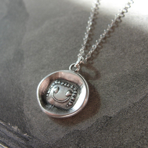 Wax Seal Necklace In Silver - Separate Not Disunited - RQP Studio