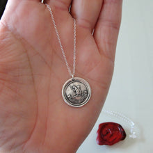 Load image into Gallery viewer, Blessed Are The Humble - Silver Squirrel Wax Seal Necklace - Exalted - RQP Studio