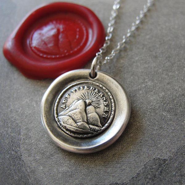 "Sunset Wax Seal Necklace ""I Will Return"""