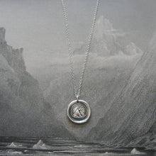 Load image into Gallery viewer, Wax Seal Necklace - Until We Meet Again - antique wax seal charm jewelry Setting Sun - RQP Studio
