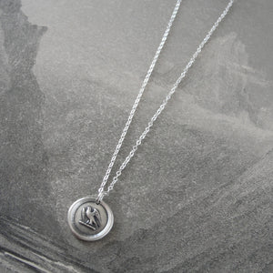 Go Getter - Martlet Mythical Swallow Bird Silver Wax Seal Necklace