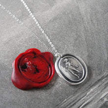 Load image into Gallery viewer, Terpsichore - Silver Wax Seal Necklace - Goddess of Dance Music Song - RQP Studio