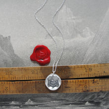 Load image into Gallery viewer, My Help Comes From The Lord - Silver Religious Wax Seal Necklace Psalm 124