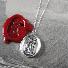 Load image into Gallery viewer, The Three Graces - Silver Wax Seal Necklace Antonio Canova's Charites