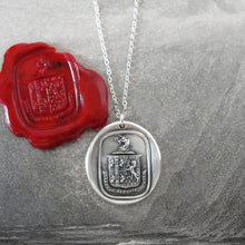 Load image into Gallery viewer, Think For Yourself - Silver Unicorn Wax Seal Necklace - Strength Bravery