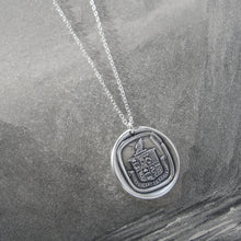 Load image into Gallery viewer, A Person Of Depth And Substance - Silver Wax Seal Necklace - Wisdom Life - RQP Studio