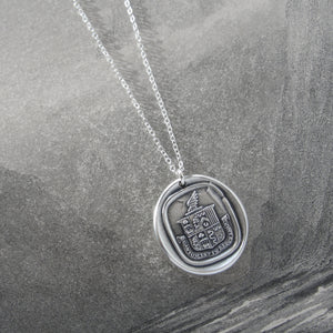 A Person Of Depth And Substance - Silver Wax Seal Necklace - Wisdom Life - RQP Studio