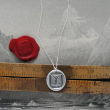 Load image into Gallery viewer, Mount Up - Protection Wings Silver Wax Seal Necklace - RQP Studio