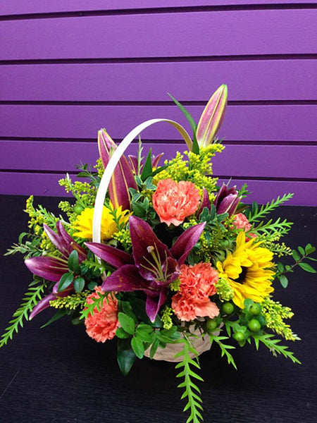 5th Street Florist: Cheerful Basket
