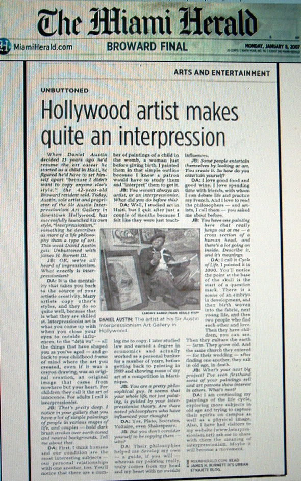The Miami Herald Unbuttoned artist Daniel Austin
