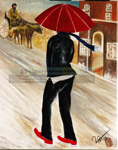 "© ""Lady with The Red Umbrella"""
