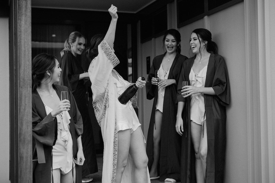 Bridal party robes by Australian fashion brand Robe - real Byron Bay wedding