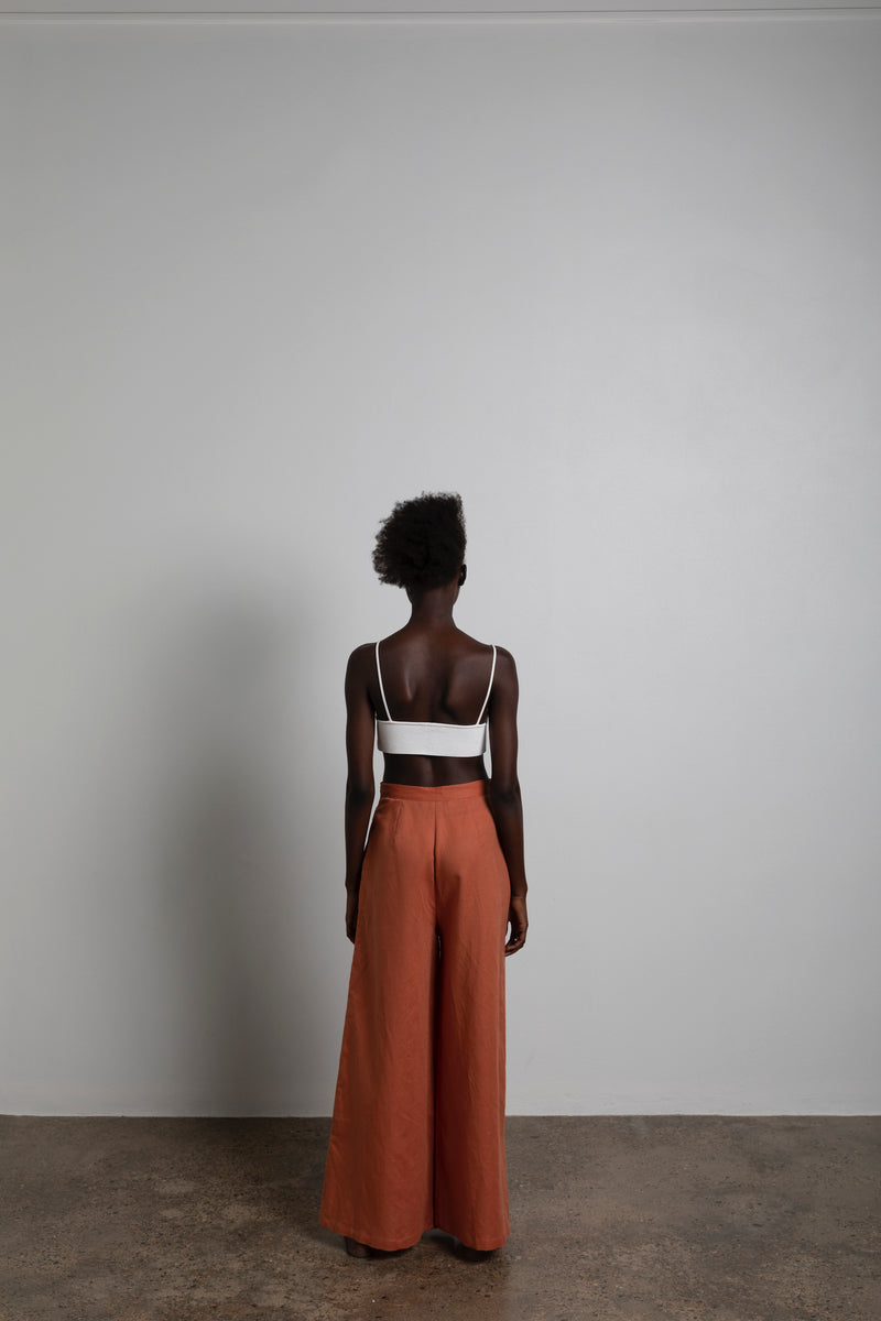 The Jenni Pant in Rust-Robes-Robe