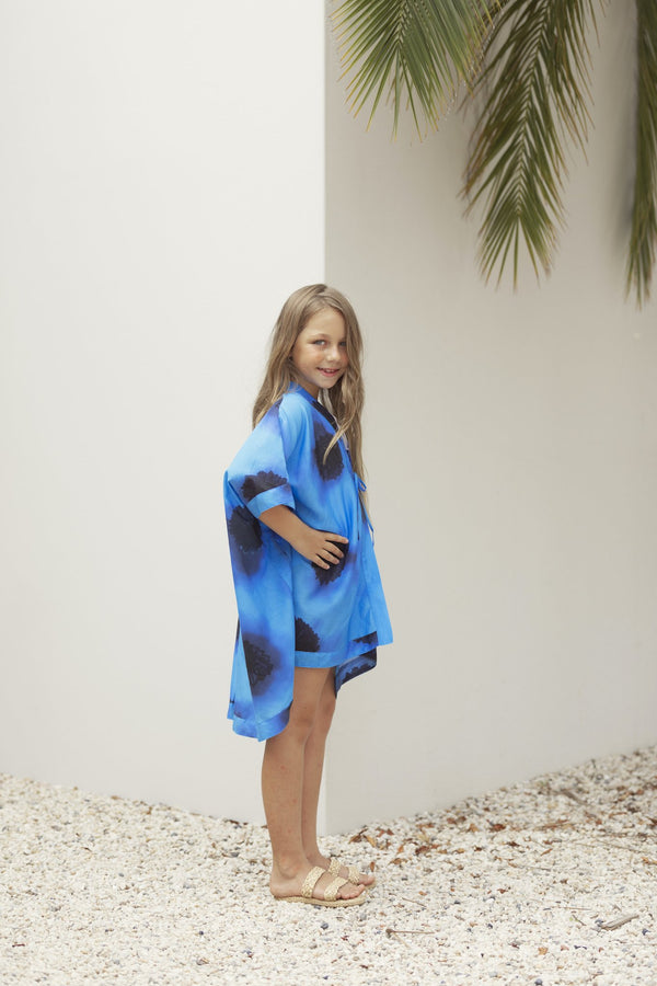 The Sophia Mini-Me in Black Chrysanthemum-Robes-Robe