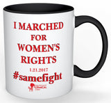 Washington Women's I Marched Mug Dual sided